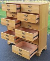 Oak Storage Multi Chest of Drawers